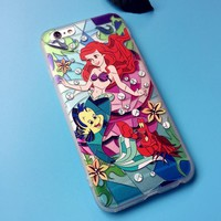 TPU Little Mermaid mobile phone case for iPhone X 7 7plus 8 8plus iPhone6 6s plus -171113