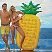 New-style Water Toy Giant Yellow Pineapple Inflatable Slice Floating Bed/Raft Air MattressSummer Holiday [6420302596]
