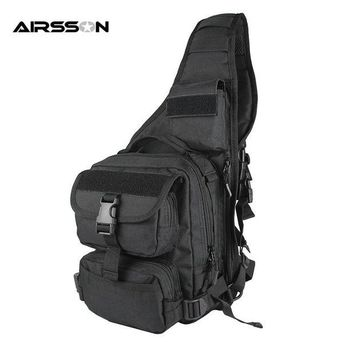 ONETOW 900D Outdoor Leisure Crossbody Shoulder Bag Tactical Military High Capacity Travel Camping Single Backpack Rusksack Sports Bag
