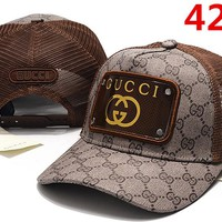 GUCCI Women Men Embroidery Sports Sun Hat Baseball Cap Hat 4281