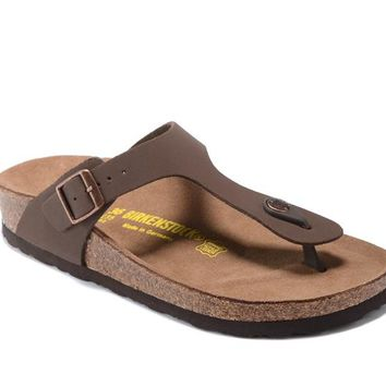 Birkenstock Men Women Brown Casual Sandals Flip Flops Size 35-45