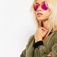 Ray-Ban Metal Aviator with Pink Flash Lens