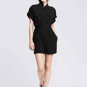 Banana Republic Womens Belted Romper
