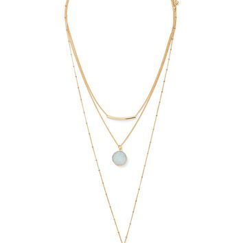 Faux Stone Layered Necklace | Forever 21 - 1000186856