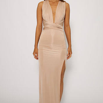 Wrapper Dress - Beige