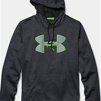Gliks - Under Armour Storm Armour Twist Fleece Big Logo Hoodie for Men in Steel Grey