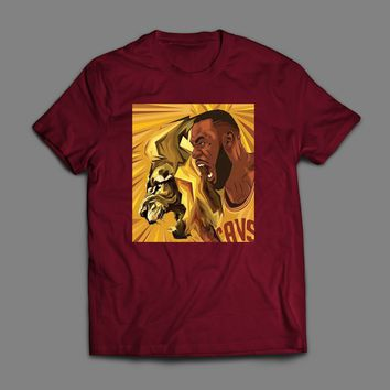 "LEBRON JAMES ""LION KING"" CUSTOM ART T-SHIRT"