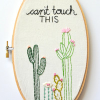 Cactus Wall Art. Succulent Wall Art. Cacti Embroidery. Cactus Embroidery Hoop. Gift for Her. Funny Embroidery, Arizona Desert. Cactus Lover.