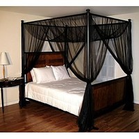Casablanca  						Black Palace Four Poster Bed Canopy