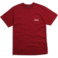 Shift Pocket T-Shirt Dark Red