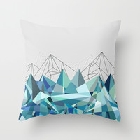 Colorflash 3 mint Throw Pillow by Mareike Böhmer Graphics