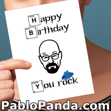 Funny Birthday Card / Breaking Bad / Funny Anniversary Card Happy Birthday Card I Love You Card Greeting Card Card for Boyfriend Him Men Man