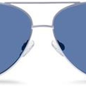 Dempsey Sunglasses in Jet Silver with Blue Mirror lenses for Women | Warby Parker