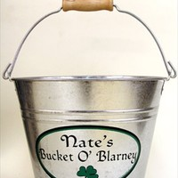 Personalized Irish Beer Bucket - Irish Beer Gifts - Groomsmen Gifts