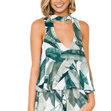 Banana Leaf Casey Collar Top