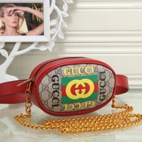 Gucci Women Fashion Leather Waist bag Satchel Shoulder Bag Crossbody