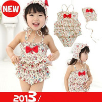 Baby  girls swimsuit  Floral  swimming suit = 1704180228