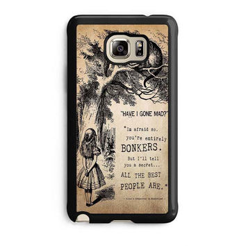 alice in wonderland bonkers samsung galaxy note 5 note edge cases cover