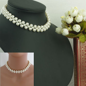 New Arrival Gift Shiny Jewelry Accessory Stylish Simple Design Handcrafts Pearls Necklace [7316489351]