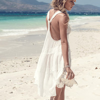 Savannah T Back Sun Dress – Off White