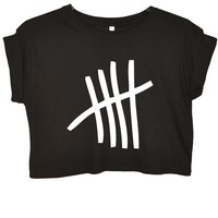 5 seconds of summer 5SOS Tally Crop Top