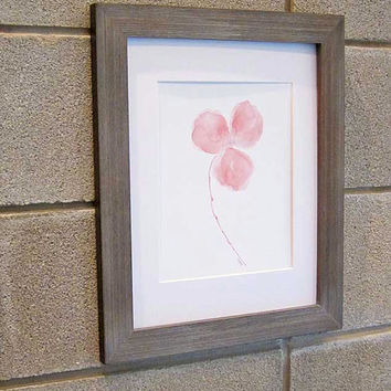 Pink Flower Watercolor Art Print Pink Orchid Painting 8x10