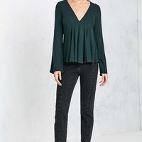 Kimchi Blue Sidney Bell-Sleeve Babydoll Blouse - Urban Outfitters