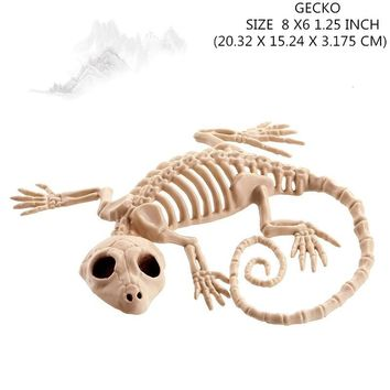 Moquerry Skeleton Gecko Animal Skeleton Bones for Horror Halloween Party Bar Home Decor Decoration Accessories Decoration