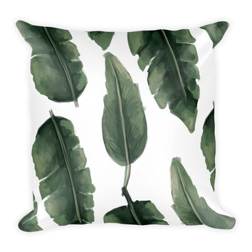 Palm Leaf Square Pillow