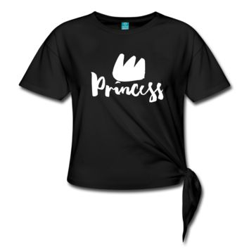 Princess with Crown Knotted Tee