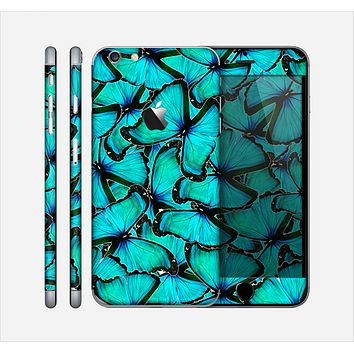 The Turquoise Butterfly Bundle Skin for the Apple iPhone 6 Plus