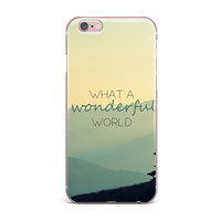 "Robin Dickinson ""What A Wonderful World"" Teal Tan iPhone Case"