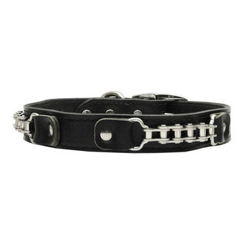 Mirage - Bike Chain Leather Dog Collars