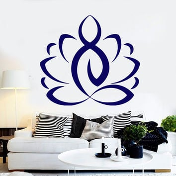 Wall Sticker Vinyl Decal Lotus Yoga Meditation Buddhism Murals (ig2061)