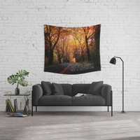 Life is a journey not a destination Wall Tapestry by Sylvia Cook Photography