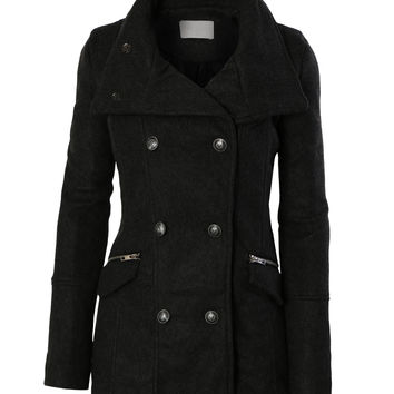 This women's jacket is made from wool melton in black and has a classic peacoat style. Shop the Glenvale jacket from Belstaff UK. This women's jacket is made from wool melton in black and has a classic peacoat style. Shop the Glenvale jacket from Belstaff .