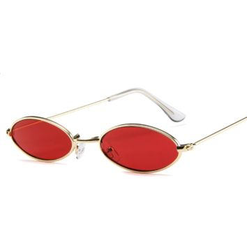 Daisy Metal Vintage Sunglasses - Red
