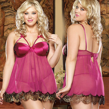 On Sale Cute Hot Deal Cup Sexy Spaghetti Strap Dress Underwear Exotic Lingerie [6595865987]