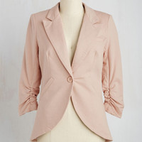 Scholastic Mid-length 3 Fine and Sandy Blazer in Petal