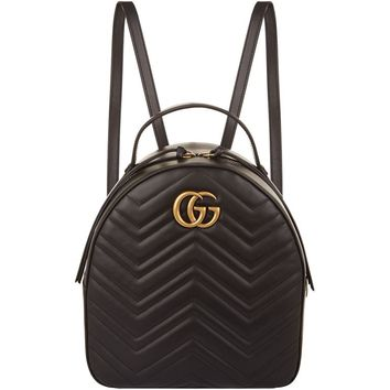 Gucci Marmont Chevron Backpack | Harrods.com