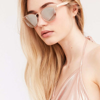 Camille Painted Square Sunglasses - Urban Outfitters