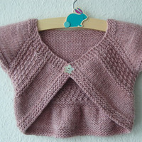 Entrechat Baby and Child Shrug PDF knitting pattern / Fiche Tricot pour bolero bébé et enfant