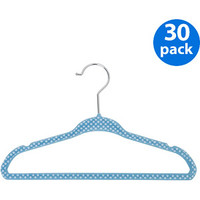 Walmart: Baby/Kids' Printed Velvet Polka Dot Hangers, Set of 30, Baby Blue
