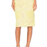Alexis Iona Lace Pencil Skirt in Aurora