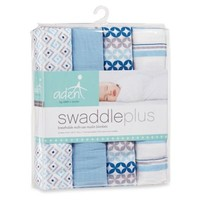aden® by aden + anais ® 4-Pack Muslin Swaddle Blankets in Blue