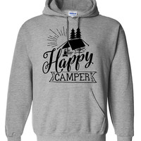 Happy camper hoodie camp camping hiking hoodies funny  camp lover