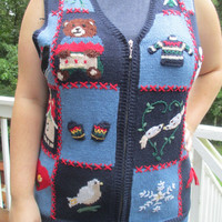 Tacky Christmas Sweater, Tacky christmas sweater vest, Sweater Vest, Tacky Sweater Vest, Chistmas sweater vest