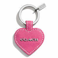 SAFFIANO HEART KEY RING
