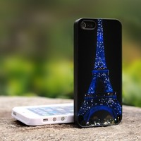 eiffel tower at night - For iPhone 5 Black Case Cover