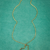 New York State Necklace in Gold